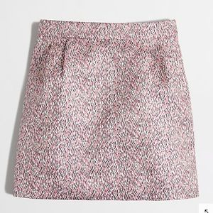 J. Crew Factory Jacquard Mini Skirt